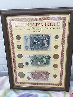 queen elizabeth 11 pre - decimal currency1953-1971 coins & notes