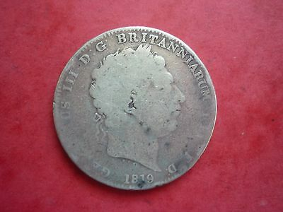 Gt Britain - Collectable George Iii 1819 Lx Silver Crown