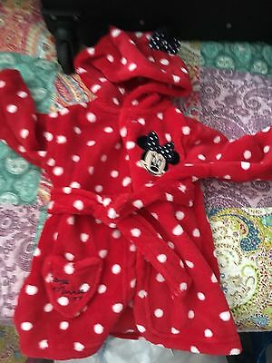 minnie mouse dressing gown 3-6 Months