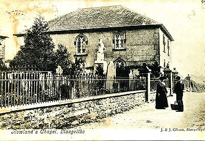 CARDIGANSHIRE - Postcard of Rowlands chapel, Llangeitho (Posted LUDLOW 1907)