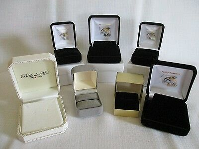 Lot of 7 Jewelry Presentation Boxes for Rings and Necklaces