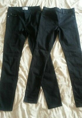 """New Look Black Denim Skinny Jeans & Jeggings - Two Pairs - Size 10 Long 10L 34"""""""