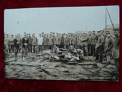 German Photograph-Soldiers inspecting mangled wreckage