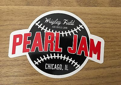 Pearl Jam - Wrigley Fenway Tour Eddie Vedder Sticker New!