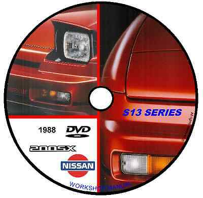 Manuale Officina Nissan S13 Series 200 Sx 1988 Workshop Manual Cd Dvd