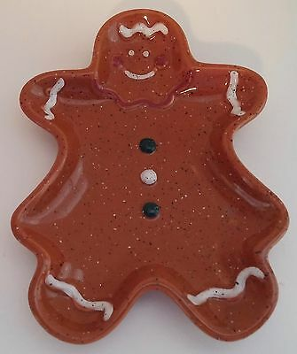 Cook's Bazaar Gourmet Collection Ceramic Gingerbread Man Spoon Rest / Dish China