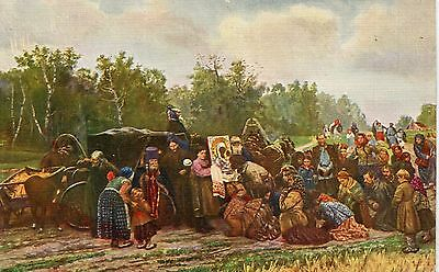 Russia Artist Savitsky - Icon Reception pre WWI postcard