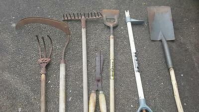 Quantity of Garden Tools - Scythe, Spade etc - Chepstow Collection Only