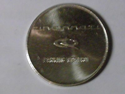 "Cincinnati Parking Token  Parking Control  Silver Color 25mm (1"") Dia. T-11 Unit"