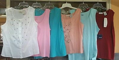 Lot Of 6 Women's Tank Tops - Size Xl 16 -18 - Great Condition
