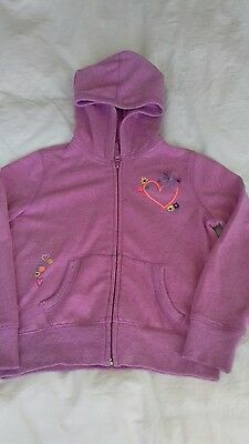 Girls Gap Kids pink zipped hoodie age 6-7