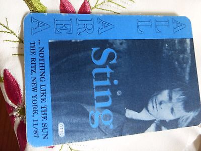 Sting - Nothing Like The Sun The Ritz New York 11/87 All Area Pass - Otto