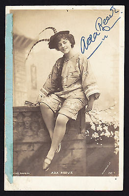 Ada Reeve English Edwardian stage theatre actress signed postcard 1905 PC Signed
