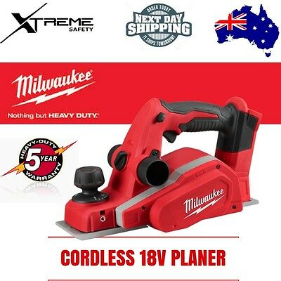 Milwaukee M18 Cordless 18v Planer 82mm - SKIN ONLY