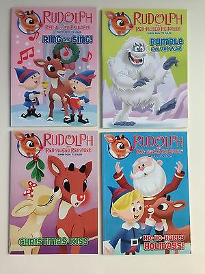 4 Rudolph the Red Nosed Reindeer Super Books to Color, Coloring Books