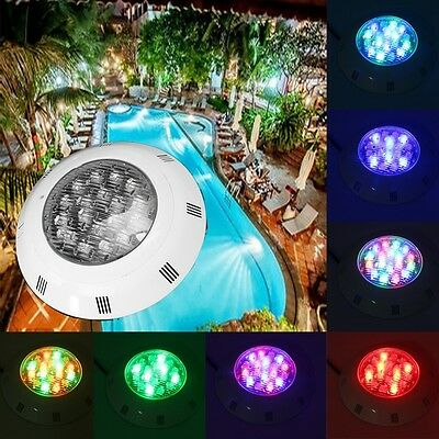 18W Multi-color LED Remote Swimming Pool Light Underwater RGB Waterproof  IP68 L
