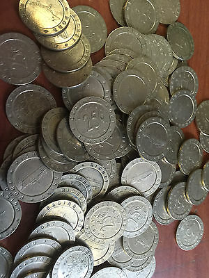 Slot Machine Tokens - .984 Size - Lot Of 250 - Us Cruise Ship
