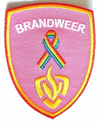 Pink Rainbow Patch Badge Fire Department Rare