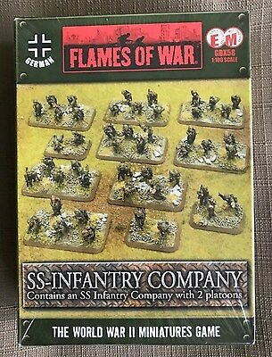 Flames of War GBX58 SS Infantry Company (MINT) FREE SHIPPING!
