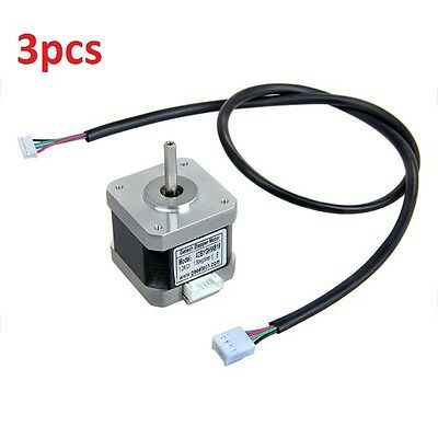 3pcs Nema17 Stepper Motor with Skidproof Shaft Four-wire Two-phase 1.8° For 3D