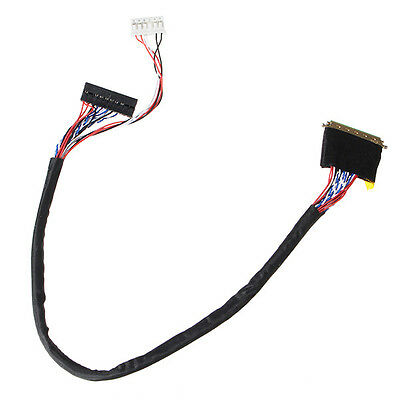40 Pin 1 Channel 6 Bit LED LCD LVDS Screen Cable For Display