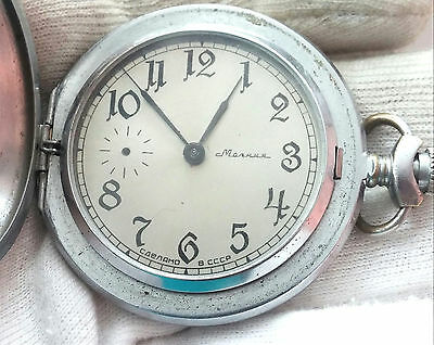 Molnija   Men's Old Pocket Watch Ussr - 18Jewels - For Repair Or Parts