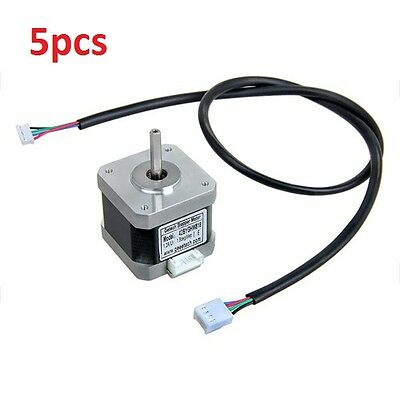 5pcs Nema17 Stepper Motor with Skidproof Shaft Four-wire Two-phase 1.8° For 3D