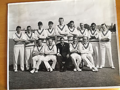 1960 Northhamptonshire Team Eric Ager Press Photograph Subba Row Tyson Andrew &