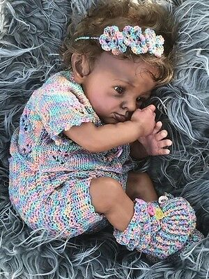 SO REAL ethnic AA biracial baby reborn doll rosa by Karola Wegerich LE 421/777