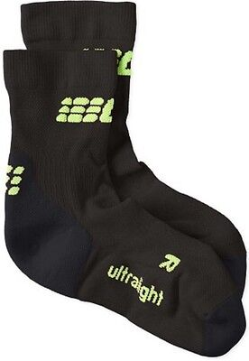 CEP Women's Ultralight Short Socks Black/Green Size 3 New With Tags