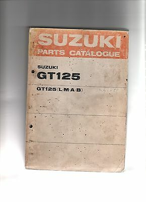 Suzuki Gt125 Factory Parts Catalogue