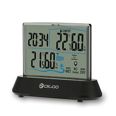 Digoo DG-TH1001 Wireless Transparent Screen In&Outdoor Hygrometer Thermometer In