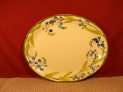 Franciscan China Forget me Not Oval Platter 14""