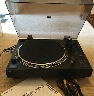 Sony Ps-Lx35Oh Stereo Turntable System.box,instructions,leads.