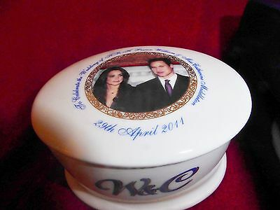 William And Kate Trinket Box Royal Wedding Very Rare Colletable