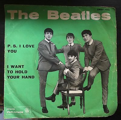 The Beatles-P.S. I Love You  45 giri Italian Issue Blue Label Different matris