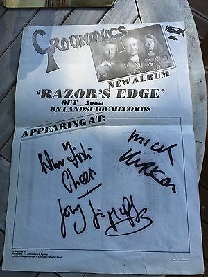 Groundhogs - Rock - Promo poster A3 - Autographed