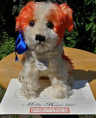 Steiff: Hund / Dog Molly, Replica 1927  400889, 2000, KFS / all IDs, limit.