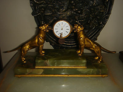 Antique Bronze French Or Austrian Clock For Repair