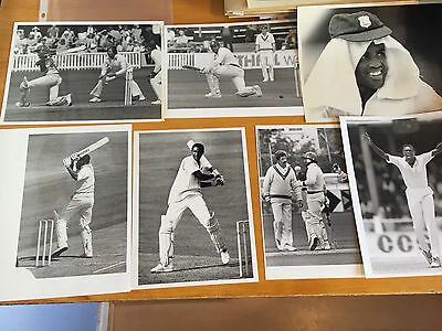 1980s 7 x West Indies Test Cricketers K Kelly Press Photographs Greenidge Murray