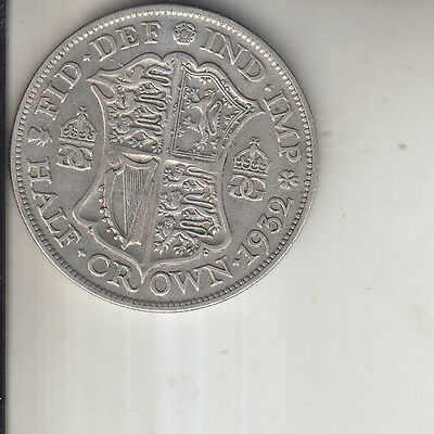 1932 Half crown Coin George V silver Britiish Coin