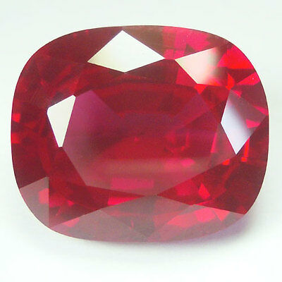 11.35ct.AWESOME BLOOD RED RUBY CUSHION LOOSE GEM