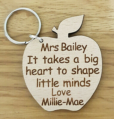 Personalised Keyring Gifts For Teacher School Nursery End Of Year Term Christmas
