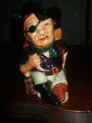 Toby/Character jug,Shorter and son,Long John Silver,genuine hand painted