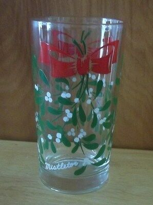 "Vintage Boscul Peanut Butter Glass - Mistletoe - 5 "" Tall"
