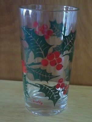 "Vintage Boscul Peanut Butter Glass - Holly  - 5 "" Tall"