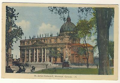Vintage Postcard (1945) - St James Cathedral, Montreal, Canada - Posted
