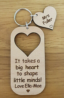 Personalised Keyring School Gift For Teacher Gifts Nursery End Of Year Christmas