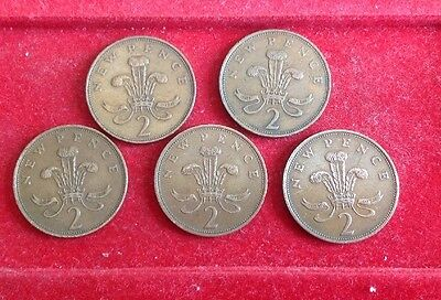 Different Date 2 New Pence Coins