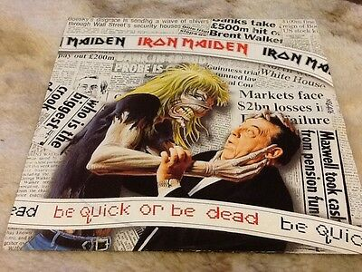 """Be quick or be dead 1992 7"""" vinyl Single by Iron Maiden Mint"""